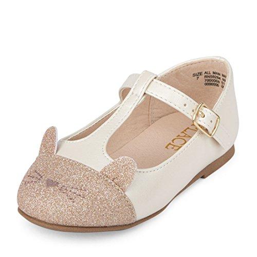The Children's Place Girls' TG Cat June Ballet Flat, Ivory, TDDLR 9 Toddler US Toddler -