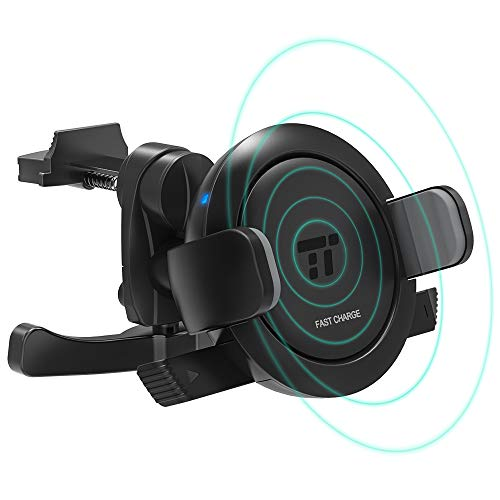 TaoTronics Vent Phone Holder for Car, Car Phone Mount with 7.5W/10W Fast Wireless Charging Compatible with iPhone XR XS Max X 8 Plus, Galaxy S9 S8 S7 & Qi-Enabled Device