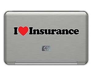 I Love Insurance Vinyl Sticker 1 5 X8 Black And Red Free Shipping Progressive