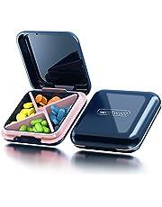 Pill Organizer, Acedada Portable Pill Box - Waterproof Pretty Daily Pill Case