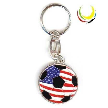 flagsandsouvenirs Keychain USA SOCCER BALL