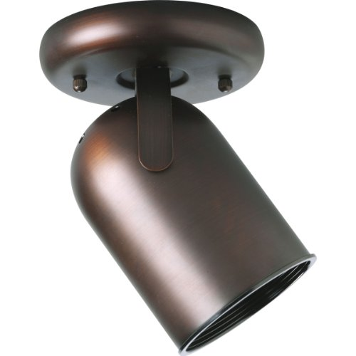 Progress Lighting P6147-174 1-Light Round Back Ceiling Mount Directional, Urban Bronze - Round Back Cylinder Track Fixture