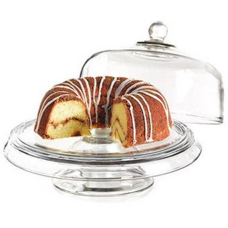 Anchor Hocking Presence 4-1 Cake Set (Plate Cake Hocking Anchor)