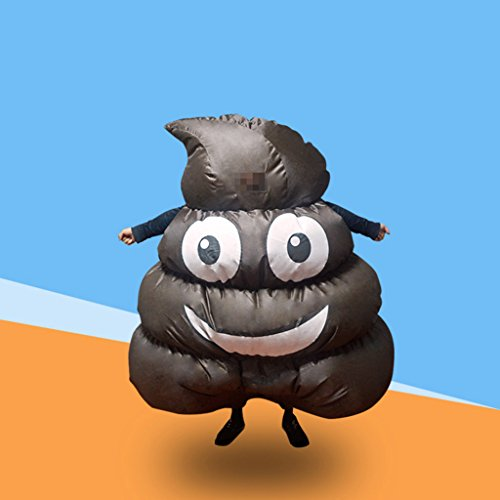LB Inflatable Halloween Costume,Happy Poo's Revenge Fancy Dress for Adult Kids Halloween Party (Last Minute Catwoman Costume)