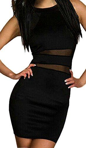 Womens Sexy Bodycon Mini Dress One Size Black