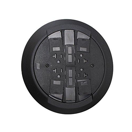 Wiremold Legrand Rc4Atcbk Assembled Poke-Thru Device Surface Multi-Service, Black ()