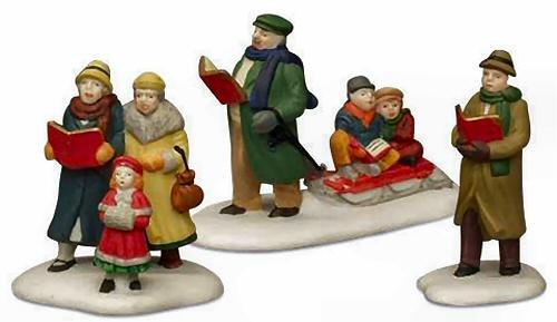 Caroling Thru The City (Set of 3)- Department 56 (Retired) (Figurine Christmas Set Caroling)