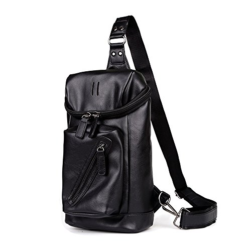 iVotre for Leather Bag Teens Boys Travel Cross Soft Men Large Functional Sling Bag Capacity and Fashionable PU Bag for with Shoulder Body rU1Hqvrw