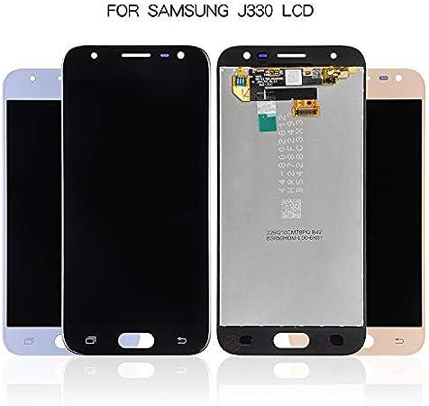 QDH J330 LCD para Samsung Galaxy j3 2017 j330 Pantalla ensamblaje digitalizador táctil + Herramientas para Samsung j3 LCD (Azul): Amazon.es: Electrónica