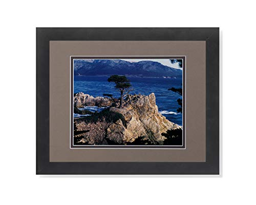 (The Lone Cypress Tree Pebble Beach Ocean Photo Wall Picture B/C Matted Framed Art Print)