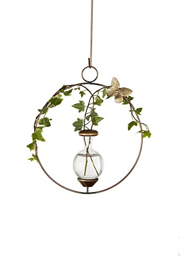 Hanging Butterfly Brass (The Brass Butterfly Hanging Round Planters)