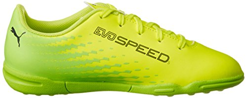 Puma Evospeed 17.5 Tt Jr, Botas de Fútbol Unisex Niños Amarillo (Safety Yellow-puma Black-green Gecko 01)