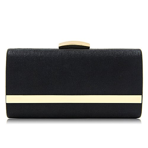 Women clutches Metallic Evening Bags Large Evening Clutch Purse With Strap (Metallic Satin Clutch)