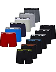 MC.TAM® Boxershorts Herren Unterhosen Männer 95% Baumwolle(Oeko Tex® Standard 100) 12er Pack Ergonomische Passform