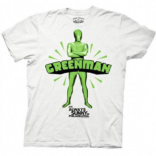 It's Always Sunny in Philadelphia Greenman White T-shirt Tee (Charlie It's Always Sunny Costume)