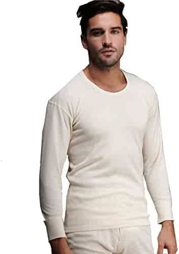 47c93e8c8a6c Elegance1234 Men s Thermal 100% Cotton(240 Gsm) Soft Long Sleeve Fitted T-