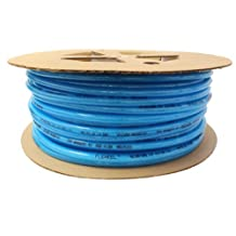 Coilhose Pneumatics PFE4500T Flexeel Reinforced Polyurethane Air Hose, 1/4-Inch ID, 500-Feet Length, No Fittings, Transparent Blue