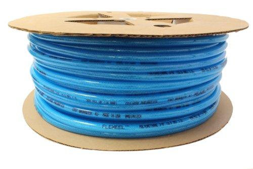 Coilhose Pneumatics PFE4500T Flexeel Reinforced Polyurethane Air Hose, 1/4-Inch ID, 500-Foot Length, No Fittings, Transparent Blue ()
