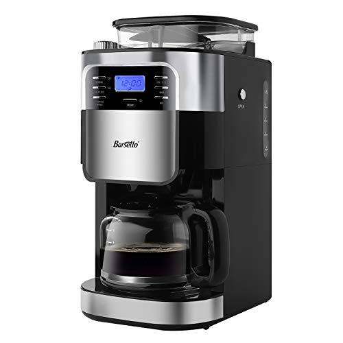 Grind & Brew Automatic Coffeemaker Barsetto Digital Programmalbe Drip Coffee Machine Brewer for Kitchen and ()