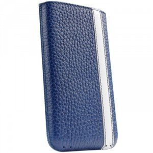 Amazon.com: Sena Corsa Leather Pouch for iPhone 4 / 4S - Blue and