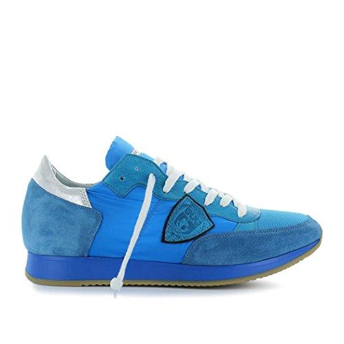 Philippe Model Zapatos de Hombre Zapatilla Tropez Neon Azul Primavera Verano 2018