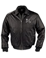The Bradford Exchange Realm Of The Dragon Men's Leather Jacket Large Black