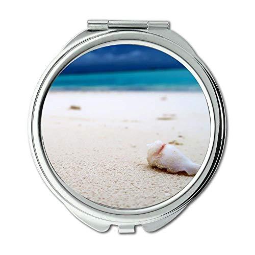 Mirror,Compact Mirror,beach blue blur,Pocket Mirror,portable -