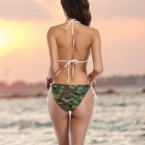 da laccetti sui COOSUN costume Estate Swimwear fianchi Multicolore Bikini Pattern Swimsuit pezzi Camouflage Due bikini bagno imbottito 6xgBqgFXw