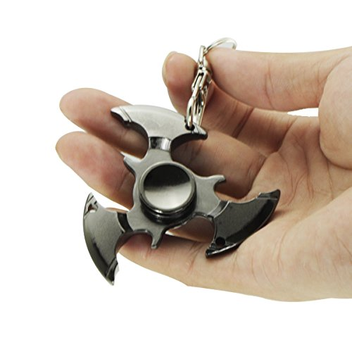 Hand Spinner Toy, EDC Focus Hand Spinner Finger Fidget Toy Spins With Bearing Ultra Durable,Made For Stress Reduce Anxiety Stress Relief Boredom Killing Time Toys (Dark Grey)