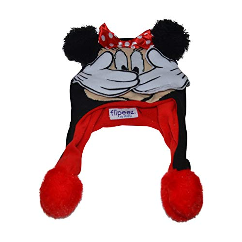 Disney Minnie Mouse Flipeez Squeeze and Flap Winter Hat (Minnie Mouse)