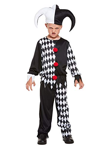 My Choice Stuff Children Fancy Scary Halloween Jester Evil Costume Kids Scream Horror Party Wear Dress 10-12 -