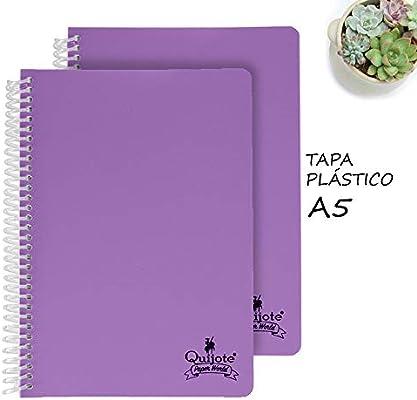 Quijote Paper World Pack 2 Cuadernos Espiral, Hojas Lisas, Tapa ...