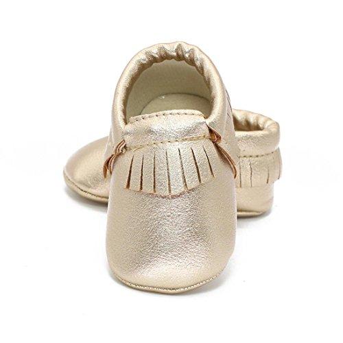 Cuir En Unisexe Souple Or Chaussure Mois Semelle Frange 6~12 Bébé Or Bzline Pu xgpAqZA