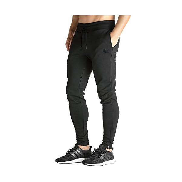 Fashion Shopping BROKIG Mens Zip Joggers Pants – Casual Gym Workout Track Pants Comfortable