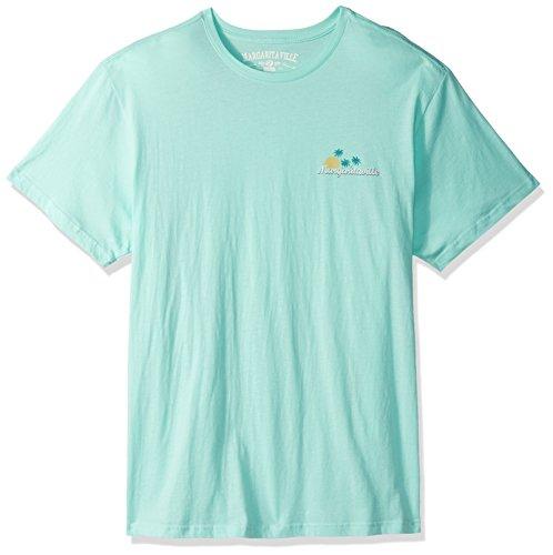 Margaritaville Men's Aloha State of Mind T-Shirt, Aqua, L