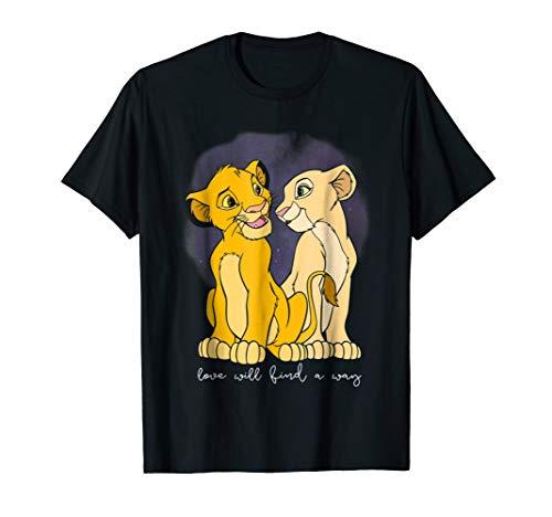 Disney Lion King Simba Nala Love Valentines Graphic T-Shirt
