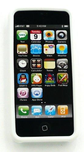 Emartbuy ® Apple Iphone 5 5G Silikon Skin Cover / Case Milk White