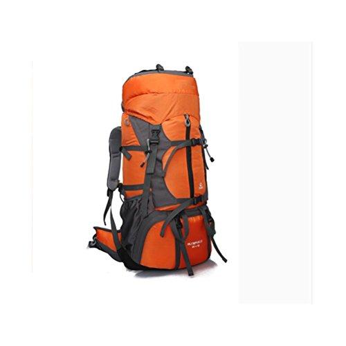 55L-65L Hombros Mountaineering Mochila al aire libre impermeable paquete de viaje hombres y mujeres , blue orange