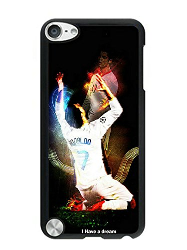 Touch 5 Case,Cristiano Ronaldo Real Madrid 01 Phone Cover for iPod Touch 5,Black