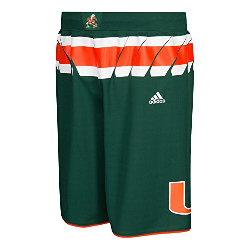 NCAA Miami Hurricanes Men's Premier Basketball Shorts, Medium, Green ()