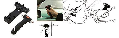 Marteau D'urgence - De secours - Brise vitre NOIR Auto Coupe ceinture dc