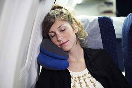 BCOZZY Chin Supporting Travel Pillow - Supports the Head, Neck and Chin in Maximum Comfort in Any Sitting Position. A Patented Product. Adult Size, GRAY