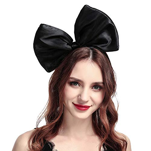 BUYITNOW Women Huge Bow Headband Cute Bowknot Hair Hoop for Halloween Cosplay