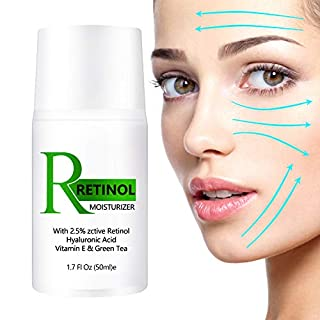 Retinol Cream, Retinol Moisturizer for Face with Vitamin E and Hyaluronic Acid, Even Skin Tone, Anti Wrinkle Face Moisturizer with Active Retinol