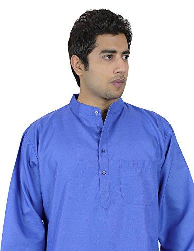 Robesd'étédeKurtapourhommes(bleu),LooseFit,aéréeconfortable,100 %coton,Machinelavable,tailleS,poitrine97cm.mieuxpourdesConditionsdetempschaud