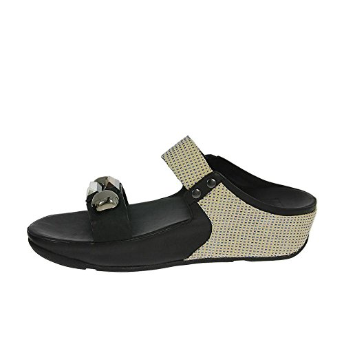 Sandalias De Diapositiva De Fitflop Jeweley Todo Negro Negro