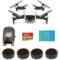 DJI MAVIC Air Arctic White - Bundle With 64GB MicroSDXC Card, Hard Case Backpack, FS Labs FS62 Multi-Coated 4-Pack Filter, Care Refresh Mavic Air