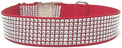 Large 1.5 Inch Wide Pink And Black Rhinestone Dog Collar For Girls Rhinestone
