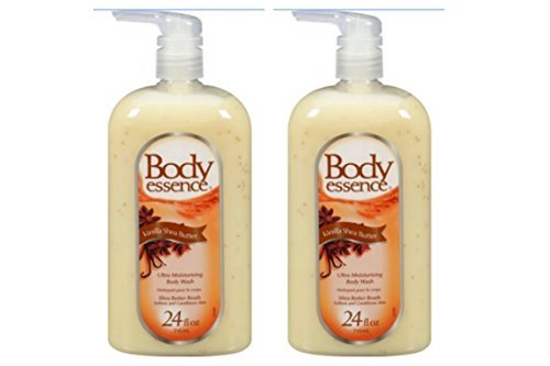 Body Essence Softens and conditions skin Vanilla Shea Butter Body Wash, 24 oz (pack of 2)