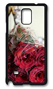 MOKSHOP Adorable bouquet roses romantic Hard Case Protective Shell Cell Phone Cover For Samsung Galaxy Note 4 - PCB